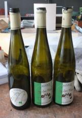 bouteilles de vin d'Alsace