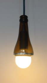Bier Bottle Lamp 2 -ampoule ronde led