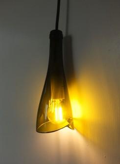 Lampe Flower kaki/noir-blanc