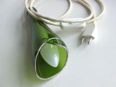 Lampe Flower - Vert/blanc