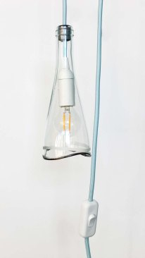 Bottle Lamp WAVE - ciel
