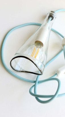 Bottle Lamp WAVE - ciel