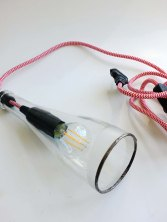 Bottle Lamp clear -zigzag rouge(2)