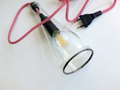 Bottle Lamp Simple Wave - rouge