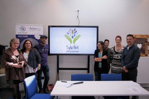 les 7 fondateurs du collectif Sylv'Art