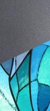 association sculpure-vitrail vertical