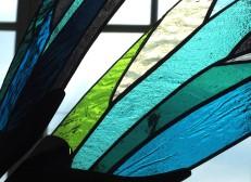 Papillon bleu, détail d'une aile, tous droits réservés.