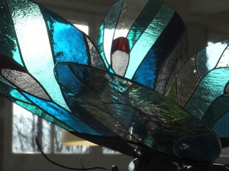 Papillon bleu, 2018, oeuvre en collaboration avec Xavier Embise, tous droits réservés.