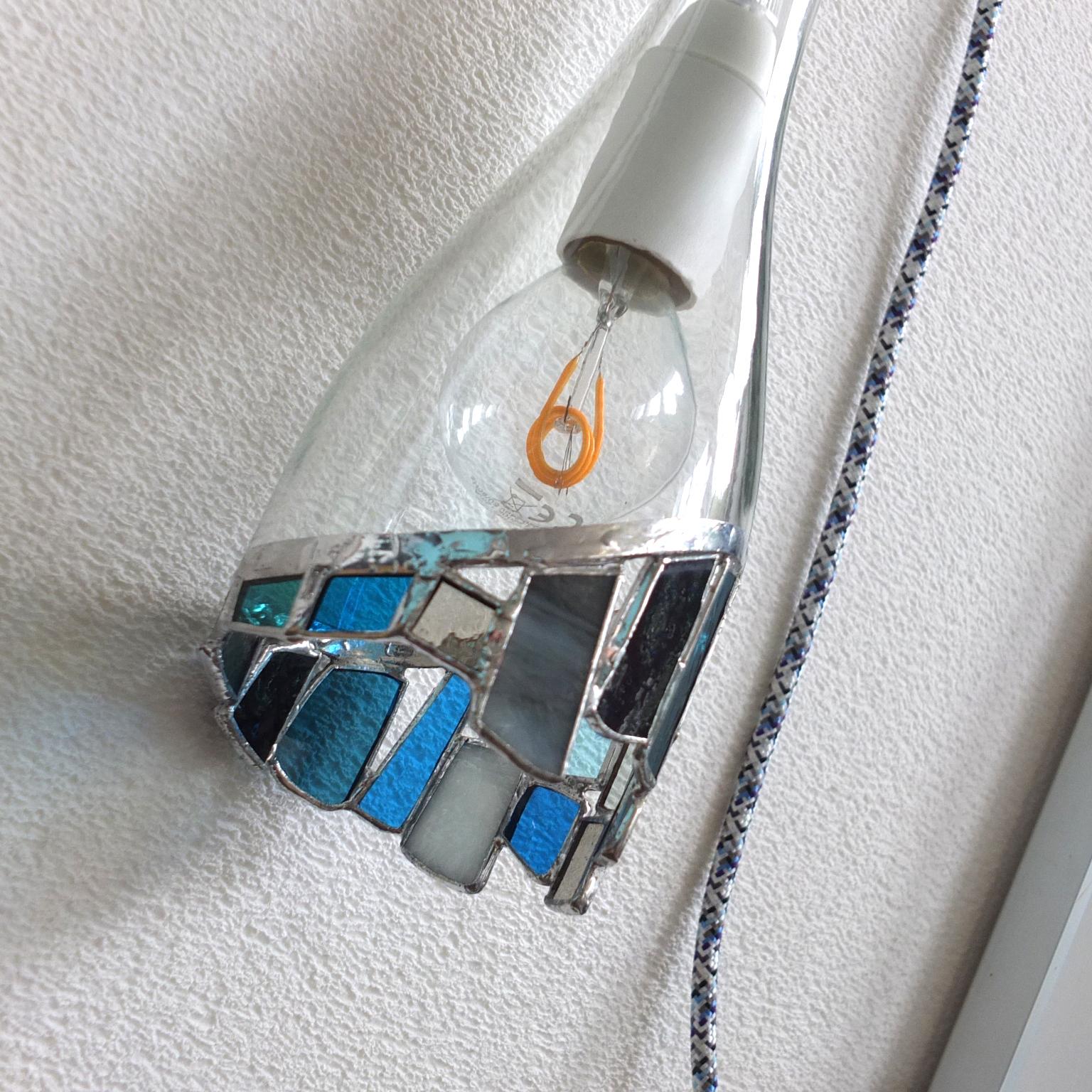 Lampe éclat bleu 2