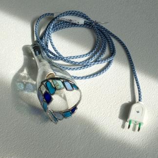 Lampe éclat bleu 3