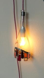 Lampe eclat fuchsia 2