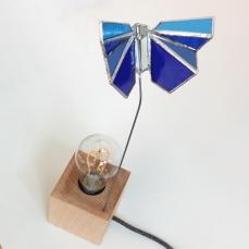 Lampe Papillon bleu 3 vue 4